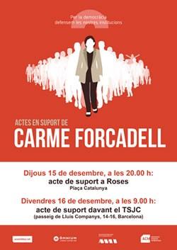 Acte de suport a Carme Forcadell